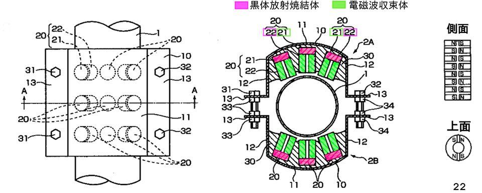 特許に登場する図。色塗りは小波さんによる。